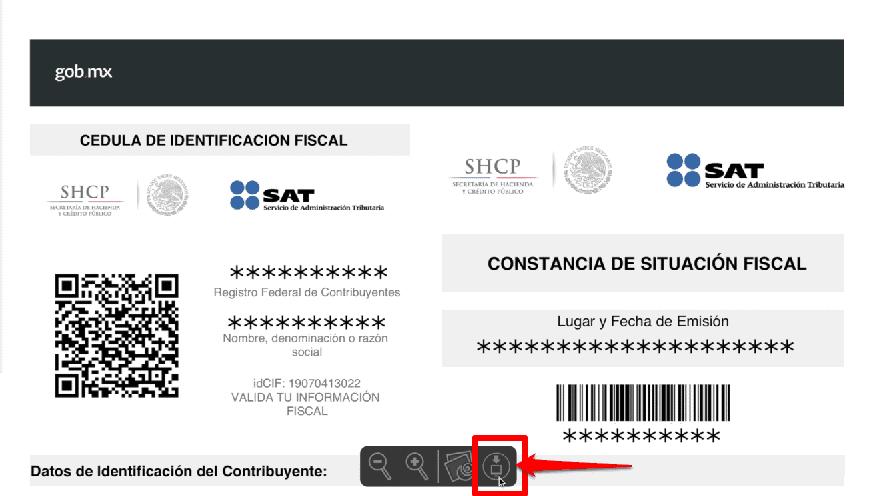 Cedula de Identificación para imprimir RFC