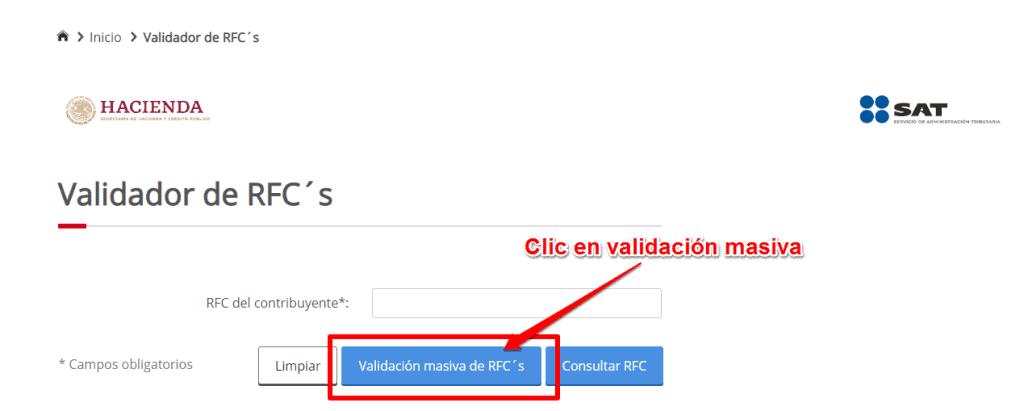 Validación de RFCs masivo